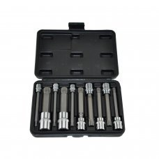 10pc Long XZN Triple Square Spline Bit Socket Set