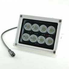 12V Waterproof outdoor Led lamp 10W 6500K cold white with light sensor