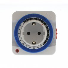 24-hour analogical timer plug, easy to use 3500W 24-hour timer plug