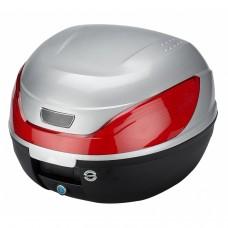 32 L Premium Boîte de toit universelle pour motos / scooters mod-YM-0866P-argent