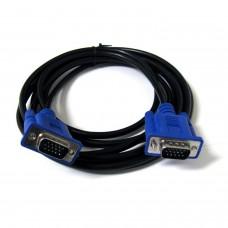 3 Compteur 3+5 VGA 15 broches mâle à mâle Connecteur mâle Moniteur d'ordinateur Câble Câble d'alimentation