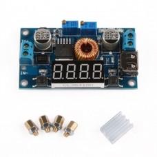 5A, 1,25v-32V , DC-DC Step Down CC-CV Adjustable Power Supply Module with voltimeter and ampermeter
