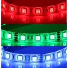 5Mètres 60-LED/mètre 5050 SMD Bande Flexible Blanc Imperméable à l'Eau Bande Flexible Lumineuse Economie d'énergie Couleur REGULABLE RGB