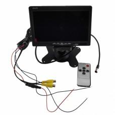 7 Inch Tft Color Lcd Couleur Lcd Car Rear View Camera Monitor Support Moniteur Rotation de l'écran et 2 Av Entrées Av