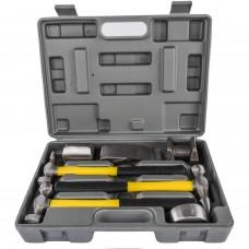7pc Auto Body DentRepair Hammer & Dolly Heavy Duty Professional Tool Kit