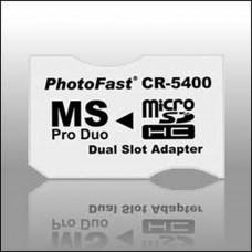 Adaptateur 2xMicroSDHC a MS Pro Duo Pro