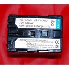Remplacement des piles pour SONY NP-QM71D