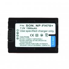 Remplacement des piles pour SONY NP-FH70 PARA SONY DCR-DVD, HC, SR Y HDR SERIES