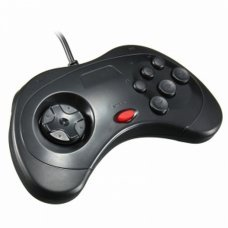 BLACK SEGA SATURN STYLE PC USB CONTROLLER FOR PC AND MAC