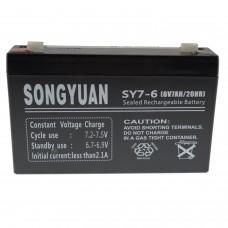 Lead  Battery 6V / 7Ah SY7-6 SY7-6 NP7-6 MP7-6 LC-R067R2P alarms, UPS