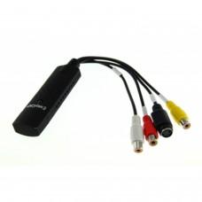 EasyCap Adaptateur de capture vidéo USB compatible Windows XP/VISTA/7/8