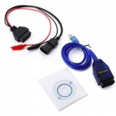 Fiat 3pin OBD2 3pin KKL VAG 409.1 USB+Fiat ECU Scan Interface de diagnostic Alfa Fiat