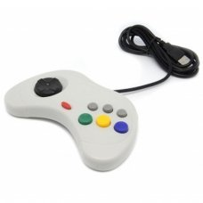 GREY SEGA SATURN STYLE PC USB CONTROLLER FOR PC AND MAC