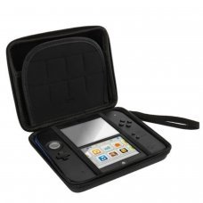 Hard case with zipper, storage and transport Nintendo 2DS.