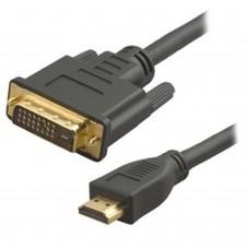 HDHDMI vers DVI 124 broches double liaison mâle-mâle-mâle avec connecteurs plaqués or