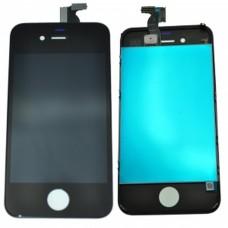 iphone 4 Lcd écran avec numériseur tactile et verre prêt à installer NOIR