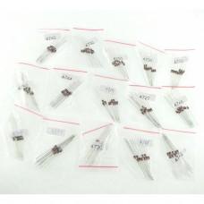 Kit 150 Diode - 15 different model, 10 of each 1N4727,1N4728,1N4729,1N4730,1N4732,1N4733,1N4734,1N47