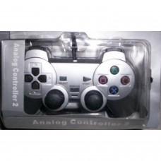 COMPATIBLE PS2 DOUBLE AMORTISSEUR [ ARGENT ]