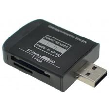 Adaptateur USB 2.0 tout-en-un pour lecteur de carte mémoire pour Micro SD MMC SD SDHC TF TF M2
