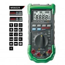 MASTECH MS8229 5 en 1 3999 Testeur multimètre Lux Humidity Sound Meter rétroéclairé