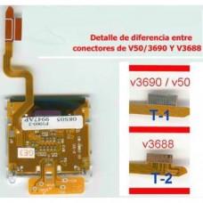 Motorola V3688 ou V3690 LCD / V50 avec câble flexible