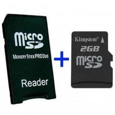 MS Adaptateur Pro Duo + MicroSD 2GB