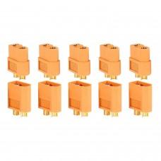 PACK 10 CONNECTEURS XT60 (5 MÂLES + 5 FEMELLES)