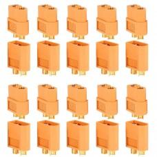 PACK 20 CONNECTEURS XT60 (10 MÂLES + 10 FEMELLES)
