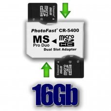 Pack Adaptateur 2xMicroSDHC 16GB
