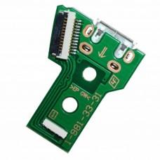 Carte de port de chargement USB JDS-040 pour manette PS4 Playstation4 Contrôleur Dualshock4 Câble flexible 12 broches