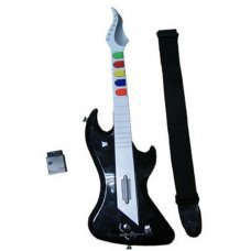 PS2 Guitare électronique sans fil (compatible Guitar Hero I, II y III)