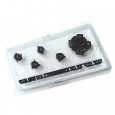 PSP Jeu de boutons de remplacement *BLACK* (noir)