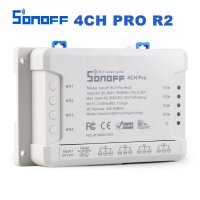 Sonoff 4CH Pro R2 WiFi Wireless Smart Switch 433MHZ Minuterie de montage sur rail Din 4 voies Sonoff 4CH Pro R2 Contrôle vocal