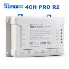 Sonoff 4CH Pro R2 WiFi Wireless Smart Switch 433MHZ Minuterie de montage sur rail Din 4 voies Sonoff 4CH Pro R2 Contrôle vocal