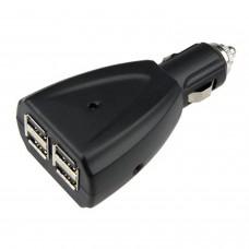 USB Adaptateur pour chargeur de voiture 4 prises de courant