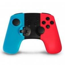 Wireless gaming controller- gamepad joystick compatible NINTENDO SWITCH console - blue + red